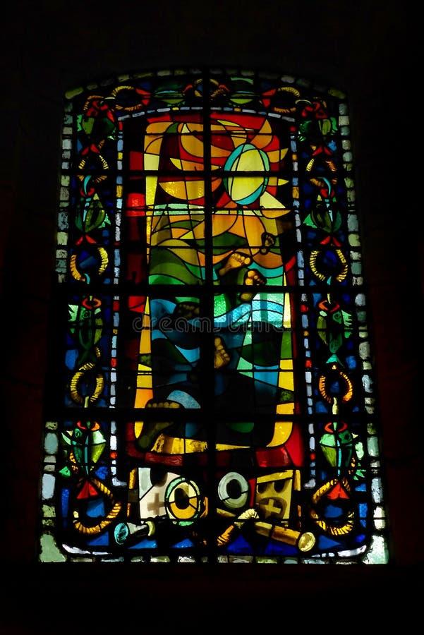 Цветное стекло стиля стиля Арт Деко, Montmarte, Париж стоковое фото