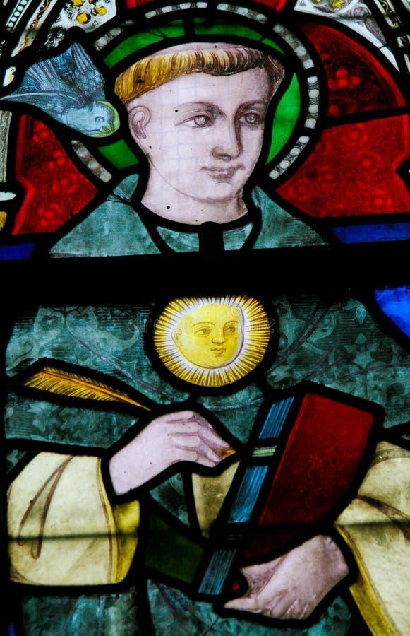 Цветное стекло - St. Thomas Aquinas стоковое фото rf