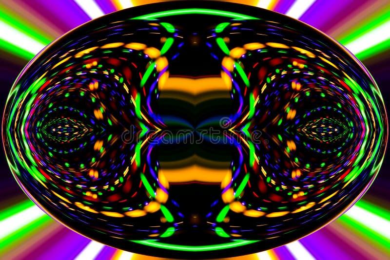 Цветные барьеры и кривые создают фантастическое изображение elipse иллюстрация вектора