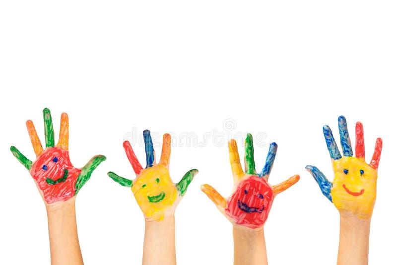 Цветные руки стоковая фотография rf