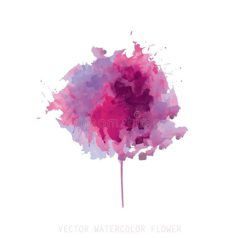 Цветок акварели иллюстрация вектора