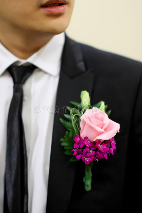 Цветок венчания для bridegroom стоковые фотографии rf