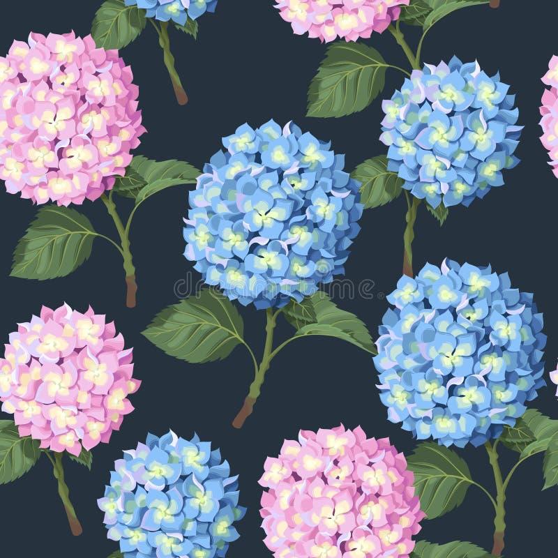 Цветок гортензии безшовный бесплатная иллюстрация