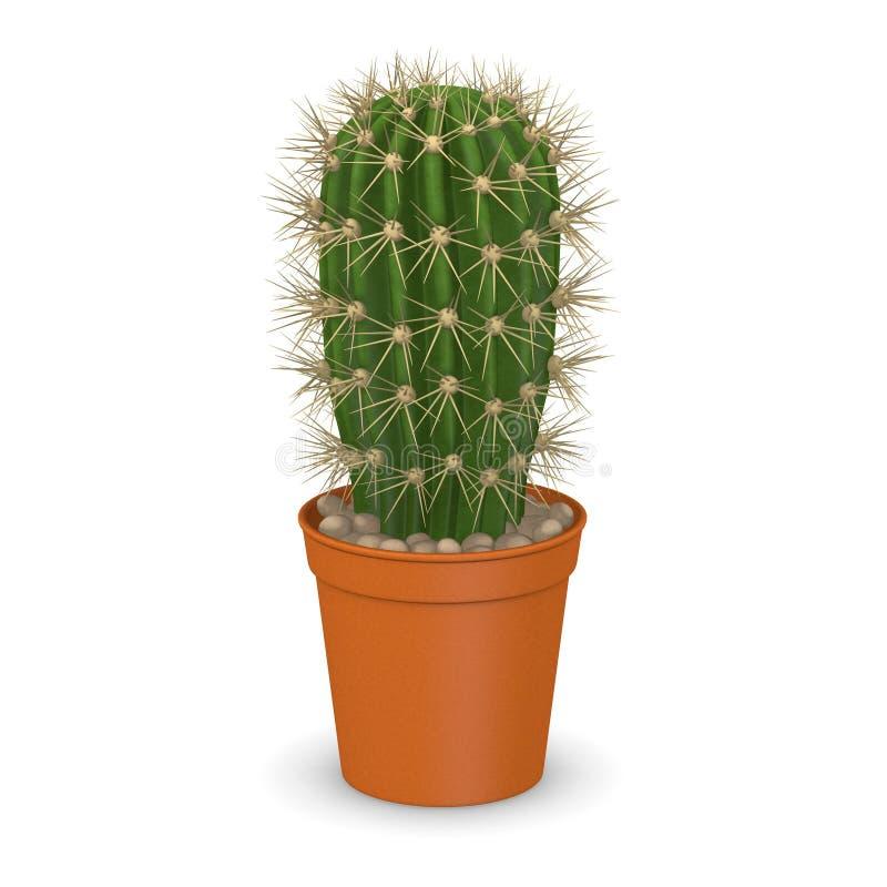 Цветок кактуса в pot13 иллюстрация штока