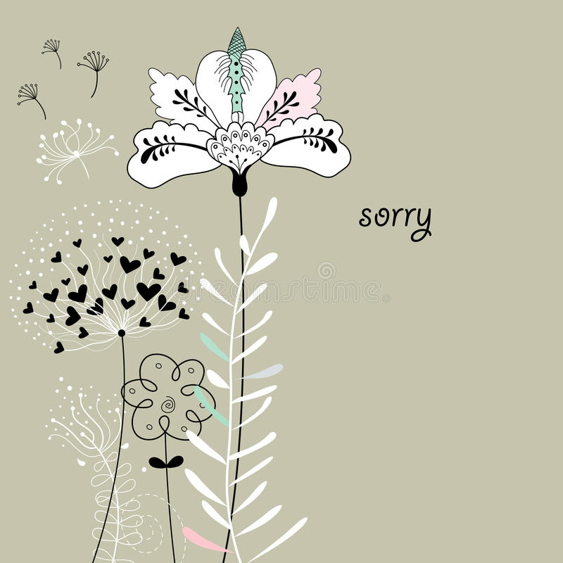 цветок карточки иллюстрация штока