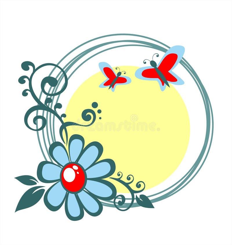 цветок кругов иллюстрация вектора