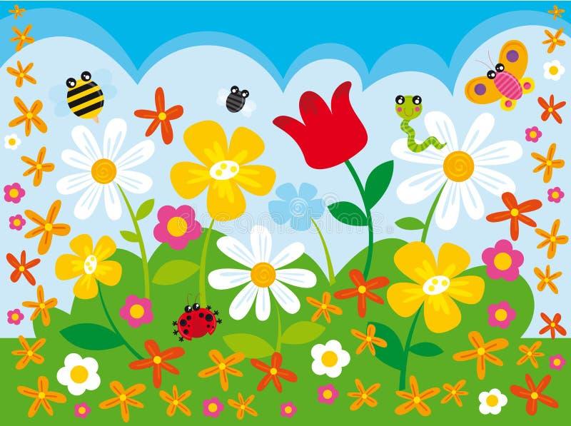 цветок лагеря иллюстрация штока