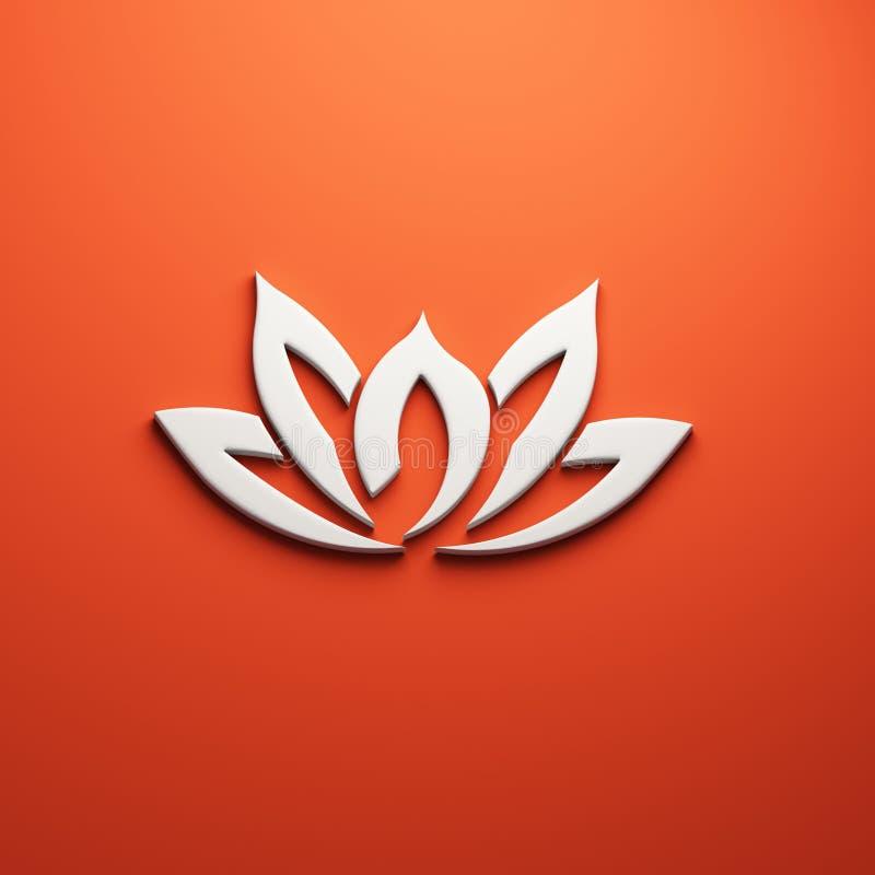 Цветок лотоса, 3D представляет иллюстрацию иллюстрация вектора