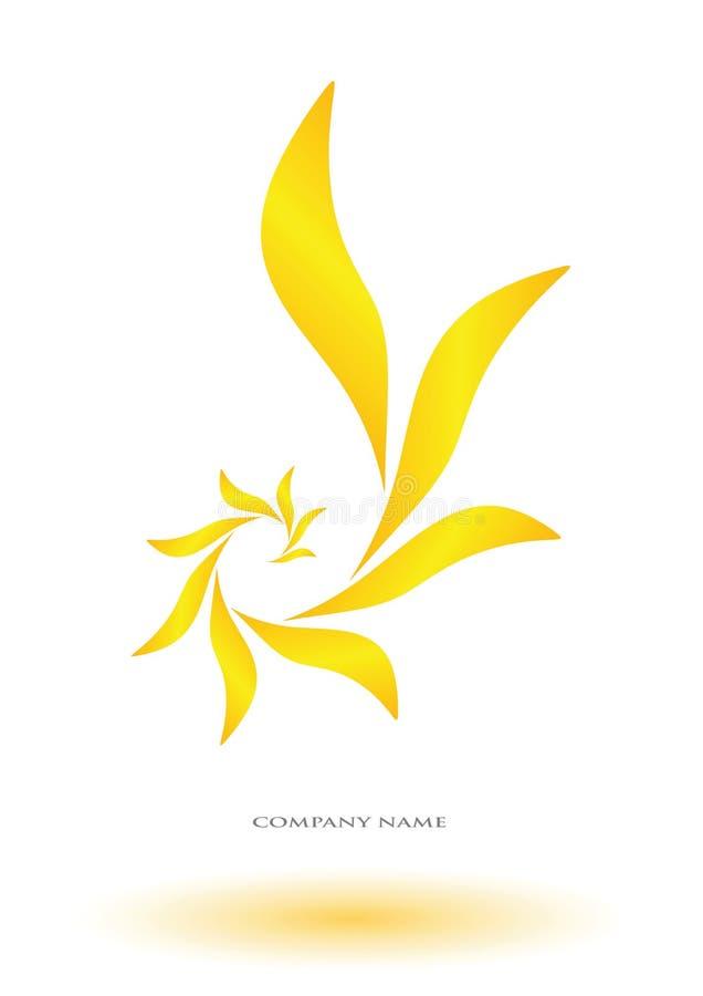 Цветок логотипа абстрактный иллюстрация вектора