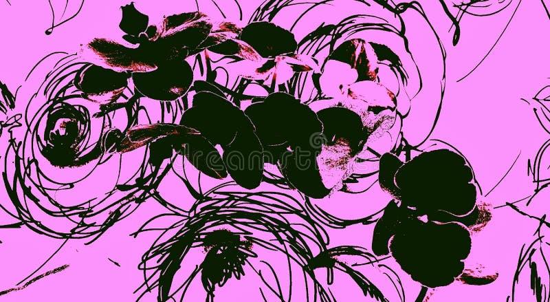 Цветок орхидеи на розах scribble стоковое фото rf