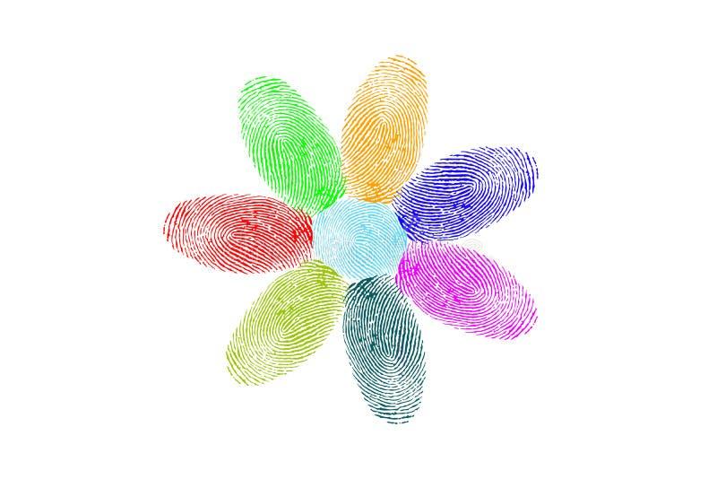 Цветок отпечатков пальцев бесплатная иллюстрация