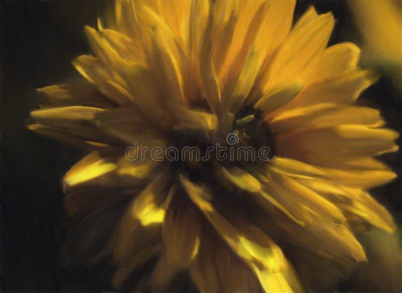 Цветок покрашенный желтым цветом стоковое изображение