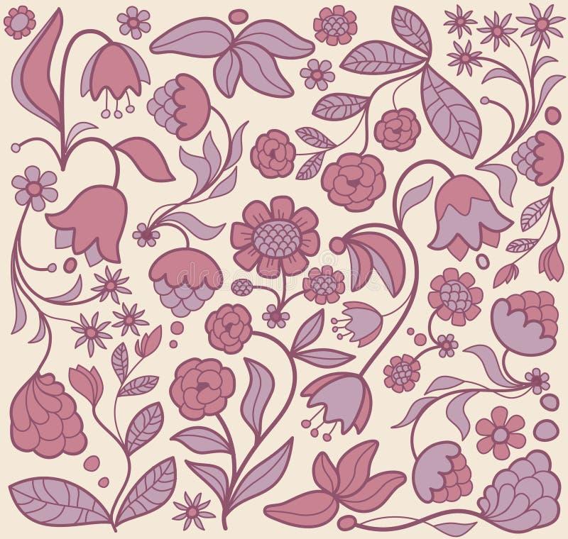 цветок предпосылки безшовный иллюстрация штока