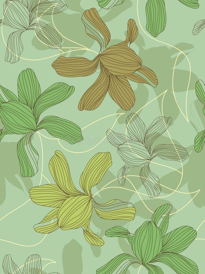 цветок предпосылки безшовный иллюстрация вектора