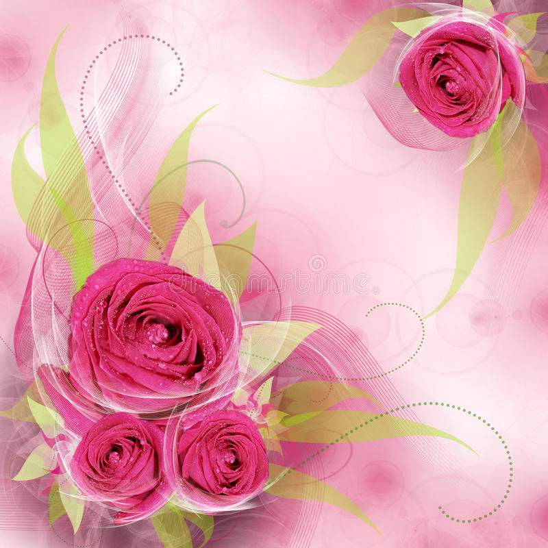 цветок предпосылки самый лучший романтичный иллюстрация штока
