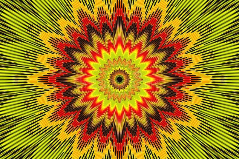 Цветок предпосылки цветочного узора радуги светить иллюстрация штока