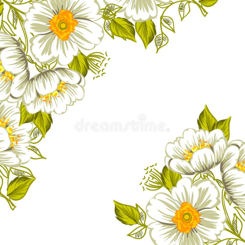 Download цветок предпосылки свежий иллюстрация вектора. иллюстрации насчитывающей шикарно - 40591509