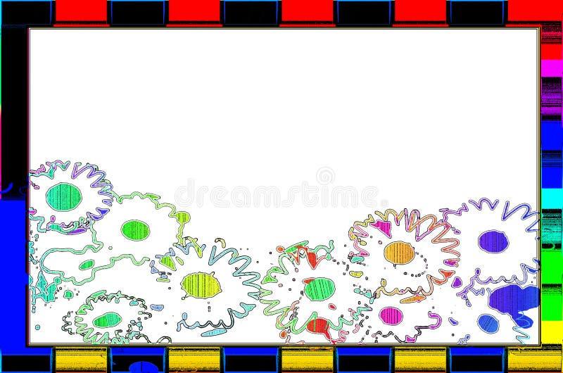 Цветок пробела рамки стоковое изображение rf