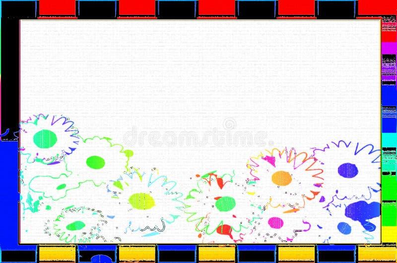 Цветок пробела рамки стоковые фото