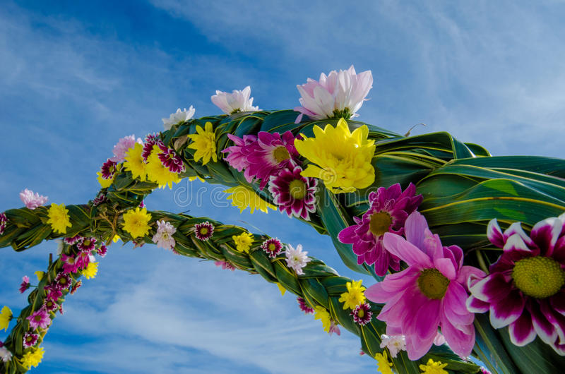 Цветок свадьбы настроенный на Мальдивах стоковое фото
