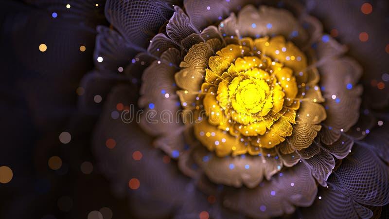 Цветок связанный проволокой фракталью стоковые изображения