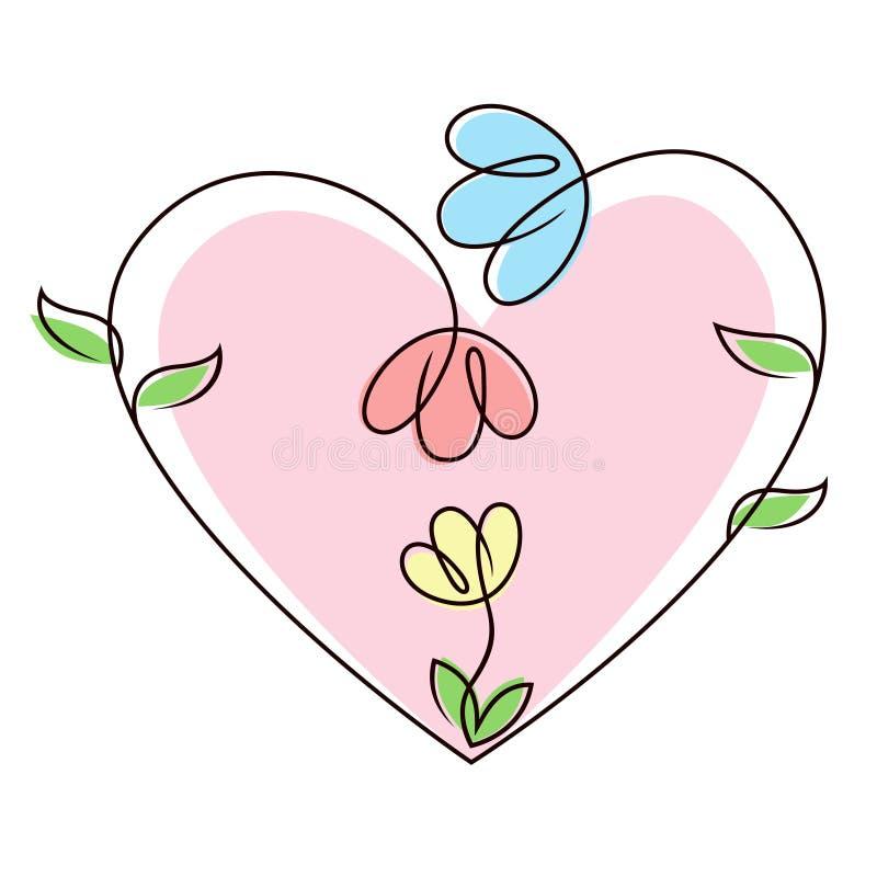 цветок семьи иллюстрация штока