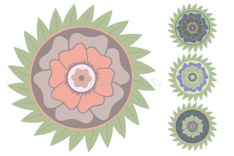 Цветок стилизованного вектора тропический иллюстрация штока