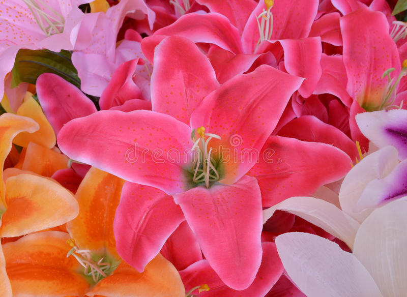 Цветок ткани, флористическая предпосылка стоковые изображения rf