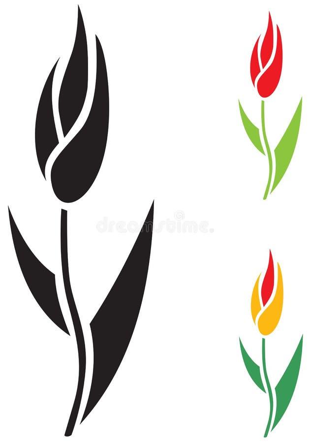 Download Цветок тюльпана иллюстрация вектора. иллюстрации насчитывающей изображение - 33736941