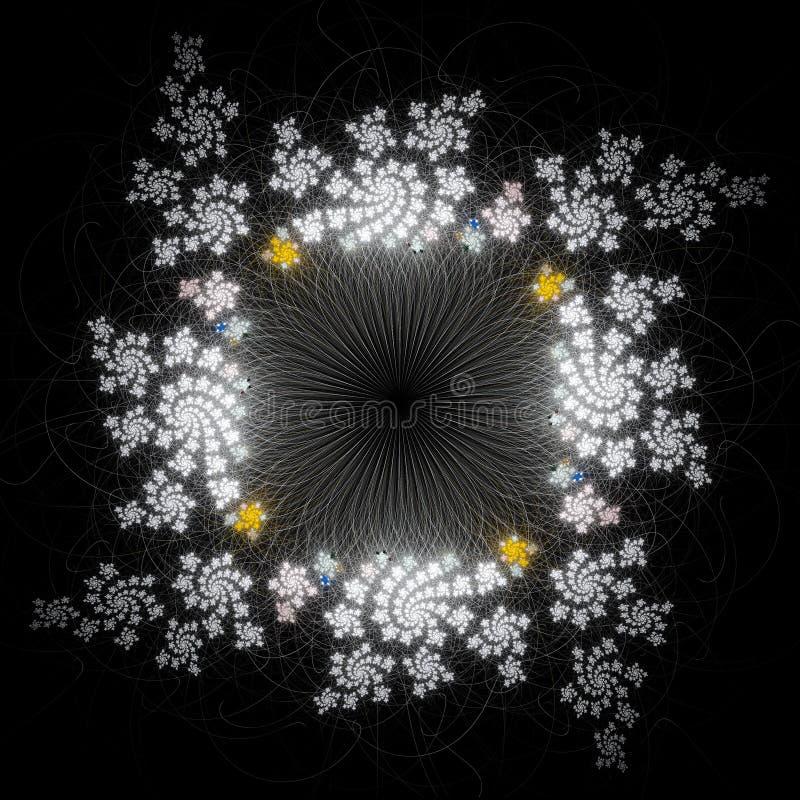 Цветок фрактали иллюстрация штока