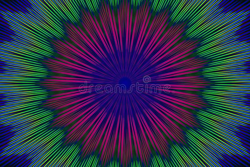 Цветок цветочного узора орнамента геометрический декор иллюстрация вектора