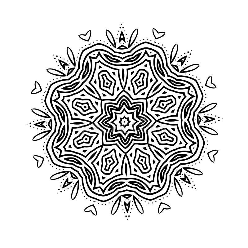 Цветок черноты картины буддизма иллюстрация вектора