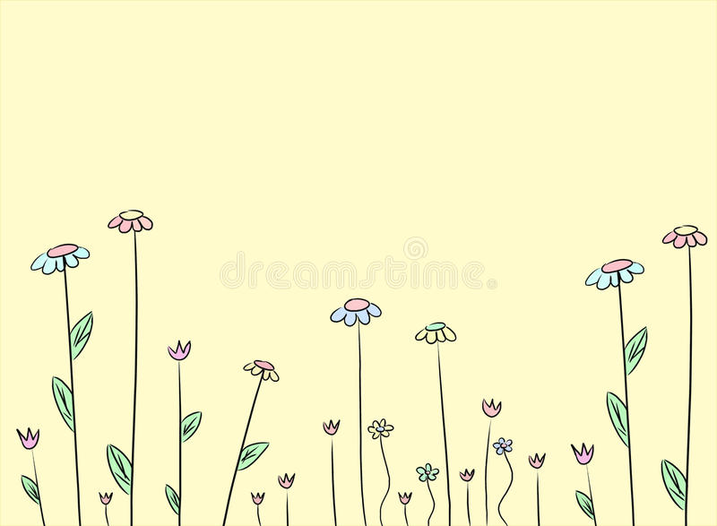 цветок чертежа предпосылки иллюстрация штока