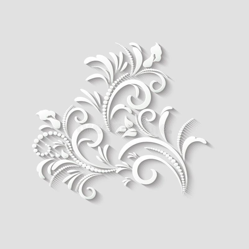 цветок 3d-floral_016Vector 3d бумажный стоковые фотографии rf