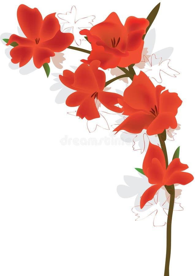 цветок eps кривого бесплатная иллюстрация