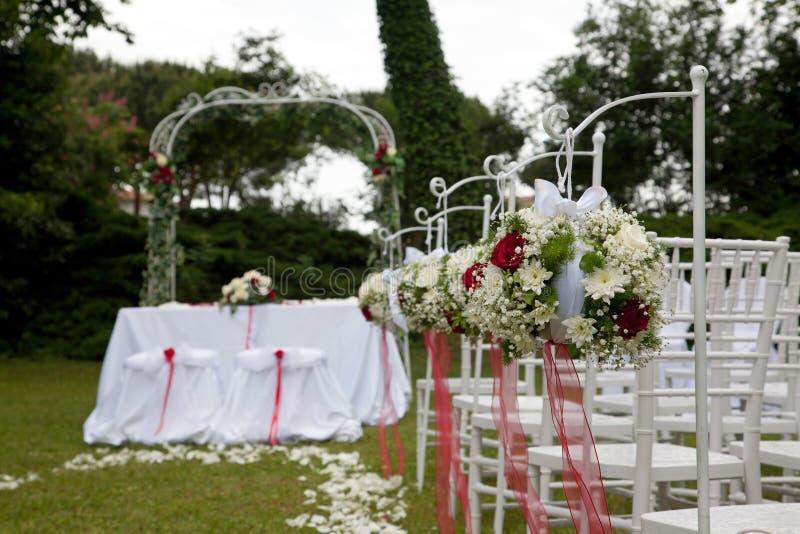 Цветочные композиции для wedding стоковая фотография