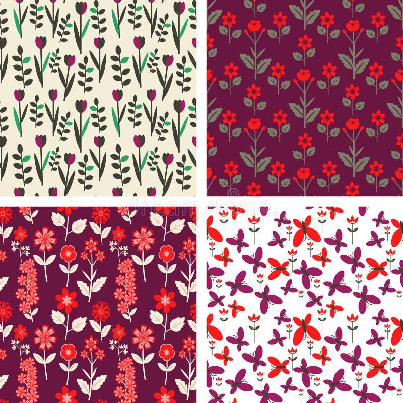 Цветочные узоры иллюстрация штока
