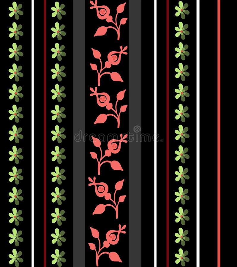 Download Цветочный узор абстрактного орнамента безшовный на черноте Иллюстрация штока - иллюстрации насчитывающей яркое, геометрическо: 40582275