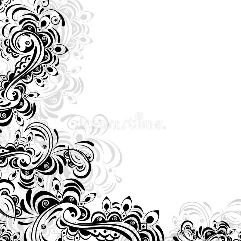 Цветочный узор абстрактных элементов бесплатная иллюстрация