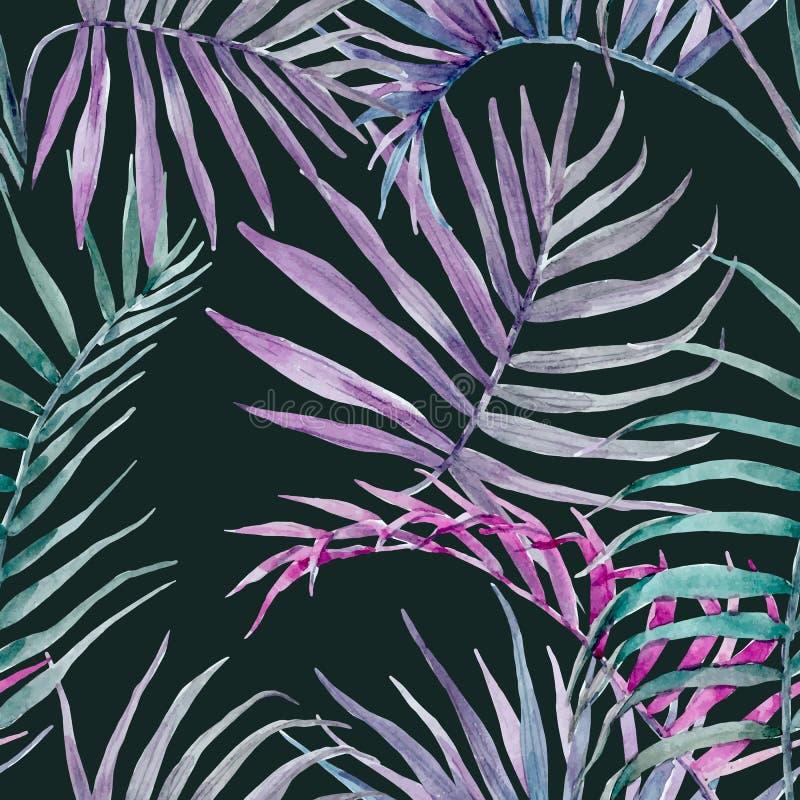 Цветочный узор вектора акварели тропический бесплатная иллюстрация