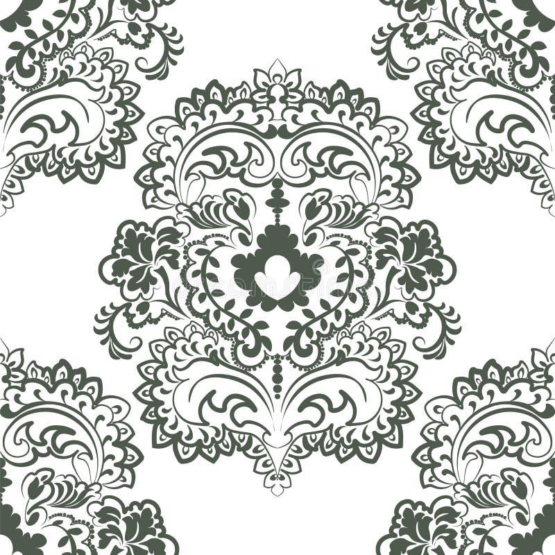 Цветочный узор вектора в восточном стиле иллюстрация штока