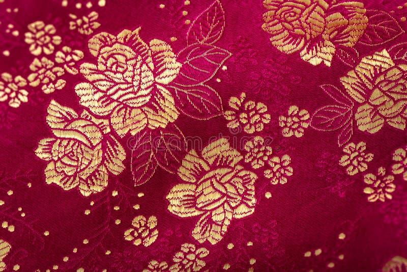 Цветочный узор в китайском стиле вышивки цветок предпосылки безшовный стоковое изображение rf