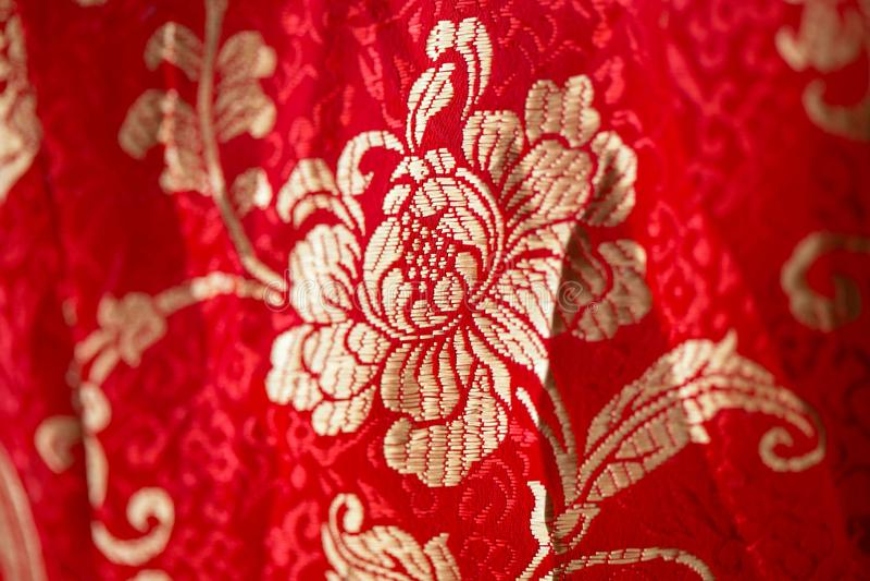 Цветочный узор в китайском стиле вышивки цветок предпосылки безшовный бесплатная иллюстрация