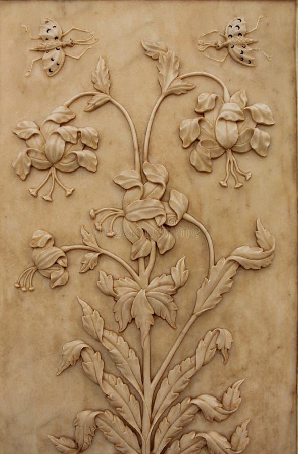 Цветочный узор в мраморе стоковое изображение