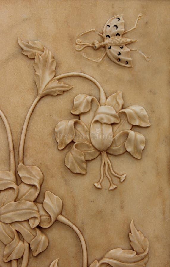 Цветочный узор в мраморе стоковая фотография rf