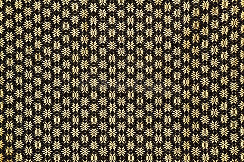 Цветочный узор на тайской текстуре silk ткани стоковое изображение