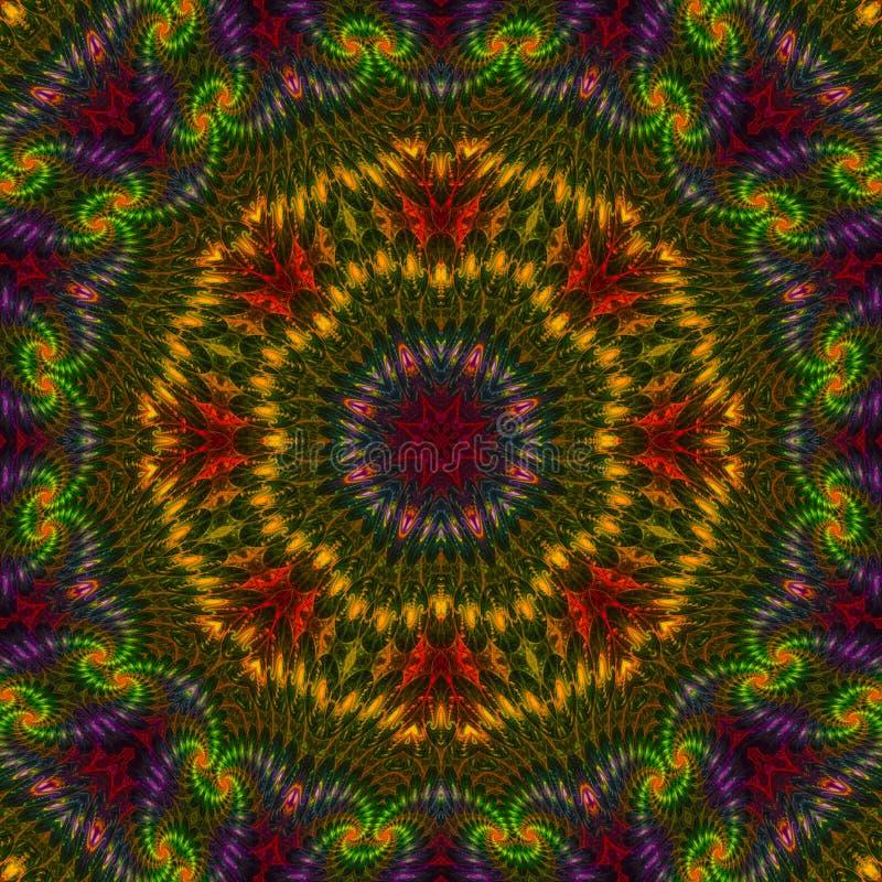 Цветочный узор оформления орнамента мандалы графический, восточный иллюстрация вектора
