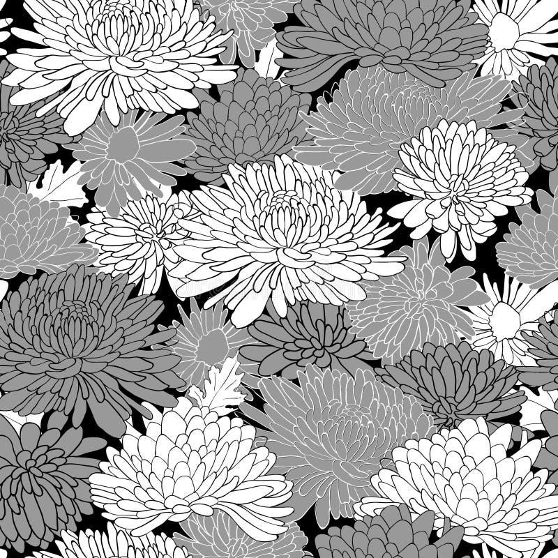 Цветочный узор. Предпосылка с хризантемой. иллюстрация штока