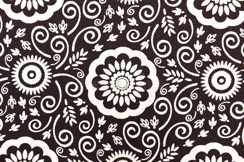 Цветочный узор ткани текстуры предпосылки стоковые фото