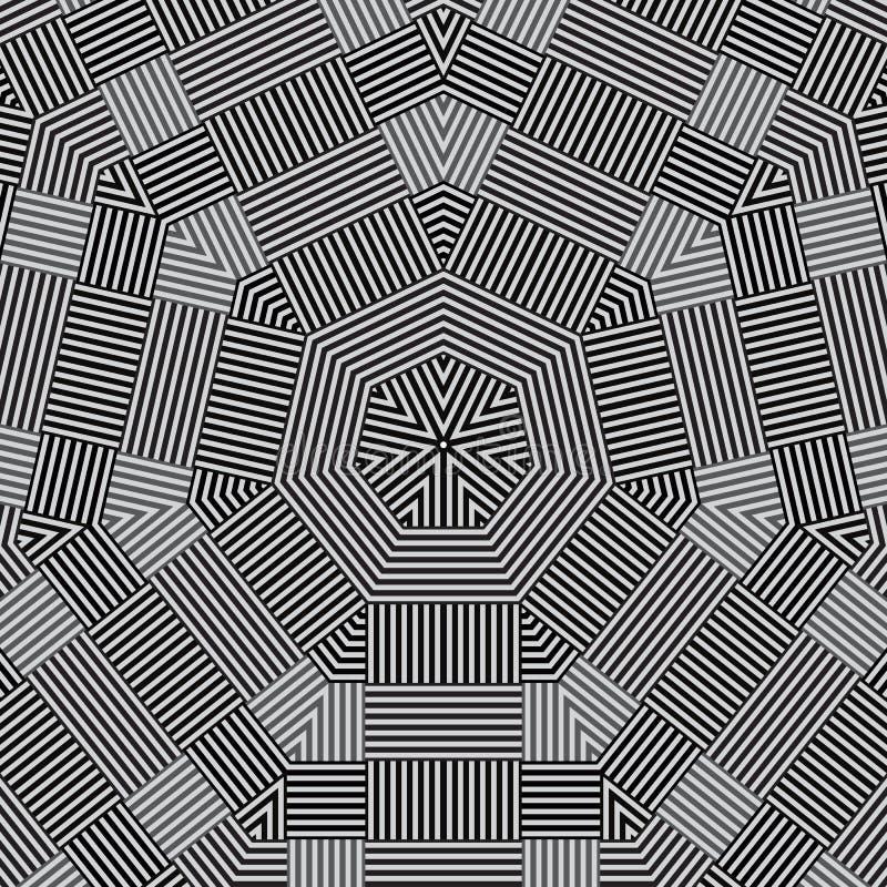 Цветочный узор шнурка современного doily круглый иллюстрация вектора